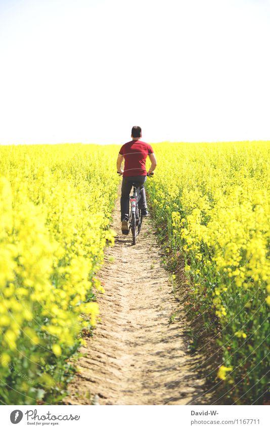 querfeldein Freizeit & Hobby Ferien & Urlaub & Reisen Ausflug Mensch maskulin Junger Mann Jugendliche Erwachsene Leben 1 Umwelt Natur Landschaft Pflanze Luft