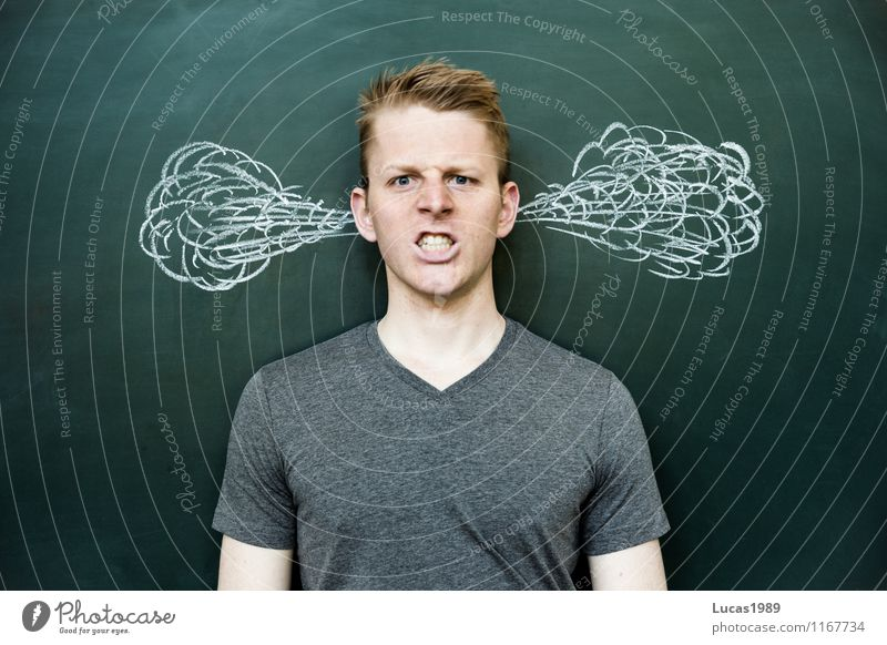 Zorn Mensch Kind Jugendliche Mann Junger Mann 18-30 Jahre Erwachsene Gefühle Stimmung Schule maskulin 13-18 Jahre lernen Studium Schulgebäude Bildung