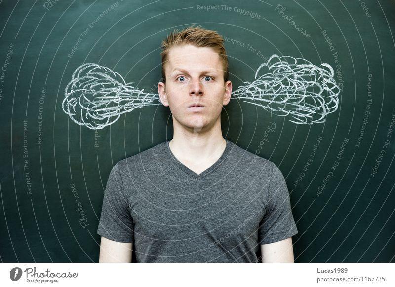Der Druck steigt Mensch Jugendliche Mann Erholung Junger Mann ruhig 18-30 Jahre Erwachsene außergewöhnlich Arbeit & Erwerbstätigkeit maskulin Zufriedenheit lernen bedrohlich Studium Gelassenheit