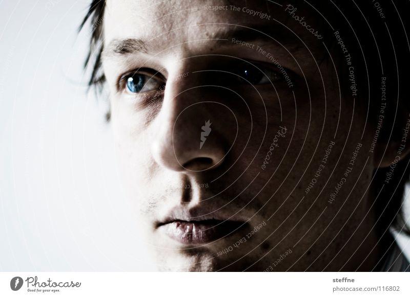 The Eyes Have It Mann schön blau Gesicht ruhig Auge Lampe Haare & Frisuren Kopf Kraft Nase Sicherheit Lippen Student Vertrauen Konzentration