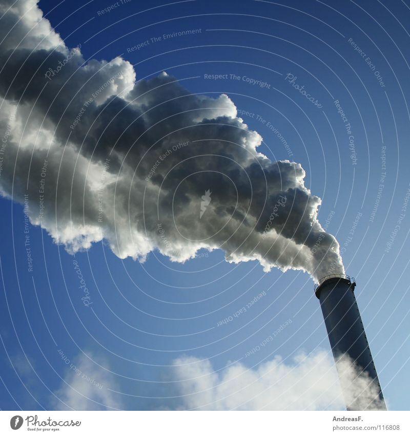 CO2 Himmel Wolken Umwelt Industrie Energiewirtschaft Klima Rauch Abgas Geruch Schornstein Umweltverschmutzung Wasserdampf Klimawandel Stromkraftwerke Kohlendioxid Elektrizität