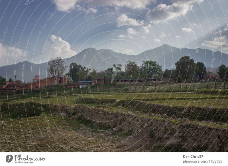 Ein Morgen in Nepal Umwelt Natur Landschaft Erde Himmel Wolken Sonnenlicht Schönes Wetter Berge u. Gebirge Himalaya ästhetisch frei Unendlichkeit Zufriedenheit