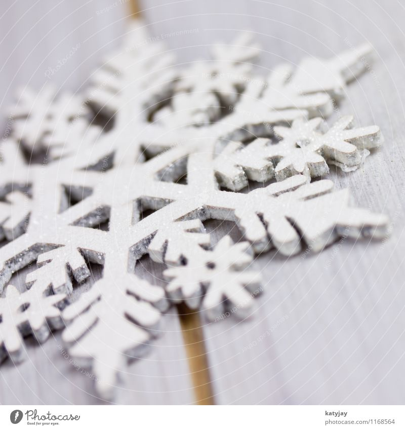 Eiskristall Schneeflocke Weihnachten & Advent Stern (Symbol) Weihnachtsstern Dekoration & Verzierung Kristallstrukturen Schneekristall Holz Jahreszeiten hoch