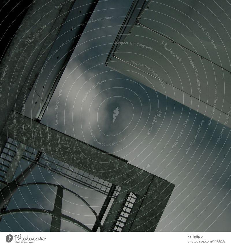 S Aluminium Blech Lüftung Hochhaus Belüftung Lüftungsschacht Parkdeck Naht Schweißen rund gekrümmt Wolken Luft Ecke Dinge Design NASA Space Shuttle UFO
