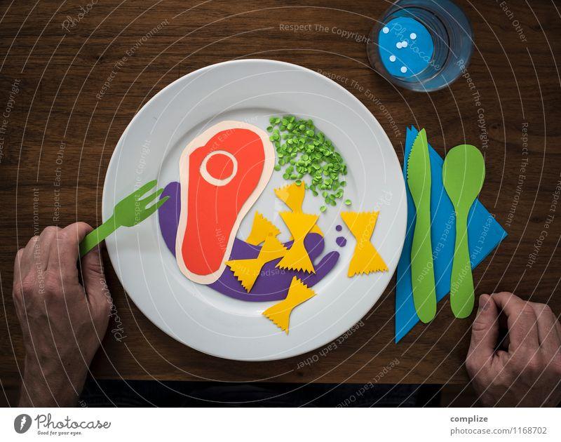 kreative Küche Essen Lebensmittel Ernährung Tisch Getränk genießen Papier Gastronomie Gemüse Restaurant Appetit & Hunger Geschirr Teller Fleisch Backwaren