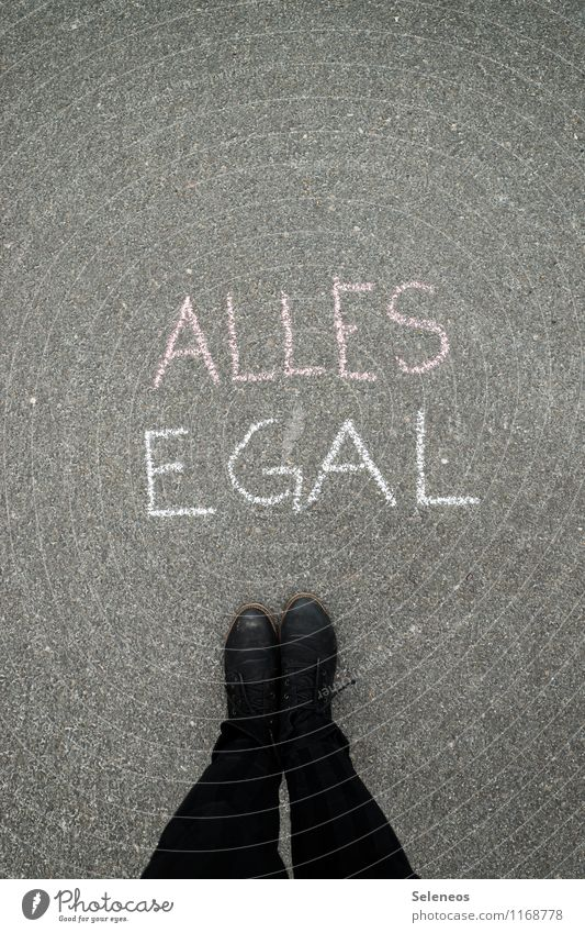 is ja Freitag Mensch Graffiti Gefühle Beine Fuß Schilder & Markierungen stehen Schuhe Schriftzeichen Hinweisschild Gelassenheit gleich Warnschild
