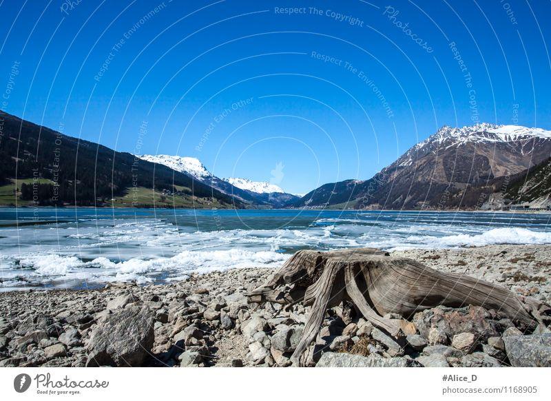 Lago di Resia Himmel Natur Ferien & Urlaub & Reisen blau Wasser Landschaft Berge u. Gebirge Umwelt Frühling Holz Stein See Eis Tourismus Ausflug Europa