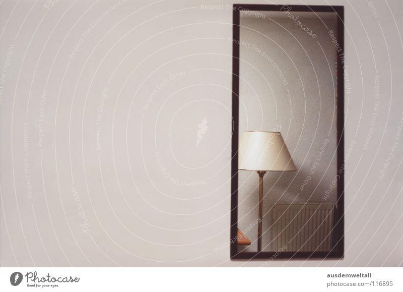 Blickwinkel Lampe Wand Raum Perspektive Spiegel