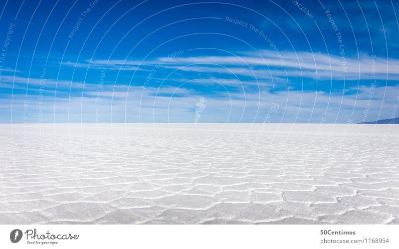 Salzwüste Ferien & Urlaub & Reisen Tourismus Ausflug Abenteuer Ferne Freiheit Umwelt Natur Wolken Horizont Schönes Wetter Wüste Einsamkeit Erholung ruhig