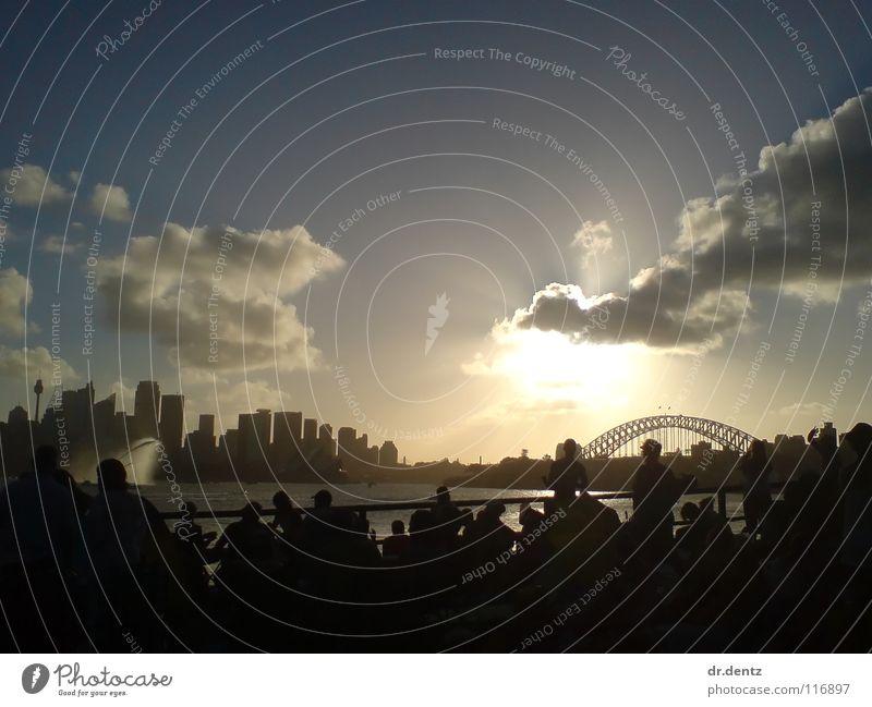Versteckte Sonne Sonne Wolken Hafen Australien Sydney Harbour Bridge
