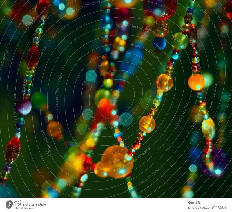 KLUNKER MY LIFE INTO BEAUTIFUL Farbe Lampe hell glänzend gold violett Dekoration & Verzierung Punkt Reichtum Schmuck niedlich türkis Kette Fleck glühen