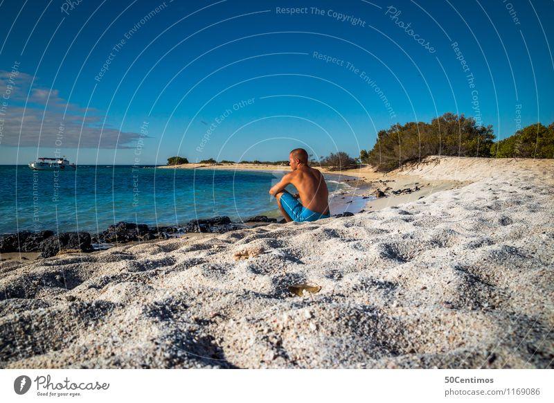 in paradise Mensch Natur Ferien & Urlaub & Reisen Jugendliche Mann Sommer Junge Frau Sonne Meer Ferne Strand Erwachsene Küste Freiheit Lifestyle Horizont