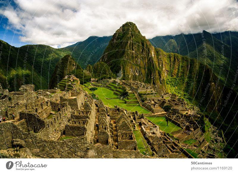 Die Inkastadt Machu Picchu Ferien & Urlaub & Reisen schön ruhig Wolken Ferne Wald Berge u. Gebirge Wiese Zeit Freiheit Tourismus Wachstum Ausflug Abenteuer