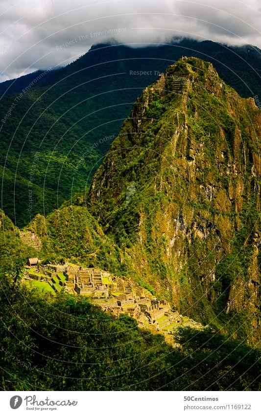 über dem Machu Picchu Ferien & Urlaub & Reisen Tourismus Ausflug Abenteuer Ferne Freiheit Städtereise Berge u. Gebirge Umwelt Natur Landschaft Wolken Wiese Wald