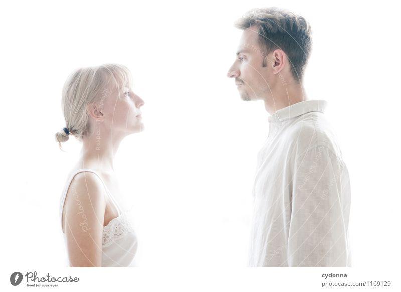 Zugewandt schön Gesundheit Gesundheitswesen Mensch Junge Frau Jugendliche Junger Mann Paar Partner Leben 2 18-30 Jahre Erwachsene Hemd Beginn Beratung