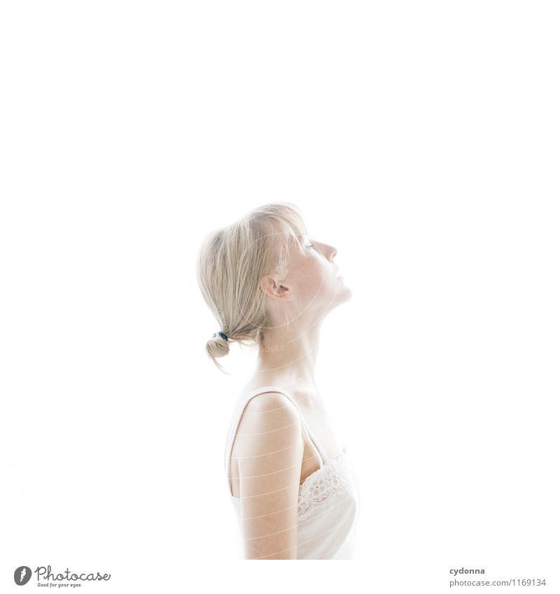 Erhellt Mensch Jugendliche schön Junge Frau Erholung Erotik ruhig 18-30 Jahre Erwachsene Leben Gefühle natürlich feminin Gesundheit Freiheit träumen