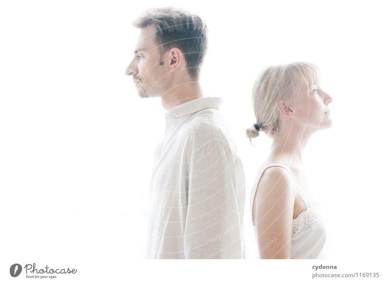 Abgewandt Mensch Jugendliche schön Junge Frau Junger Mann ruhig 18-30 Jahre Erwachsene Leben Liebe Gesundheit Lifestyle Gesundheitswesen Paar Freundschaft träumen