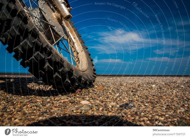 Road Trip Freizeit & Hobby Ferien & Urlaub & Reisen Ausflug Abenteuer Freiheit Sommer Motorsport Motorrad Motocrossmotorrad Reifen Strand entdecken fahren