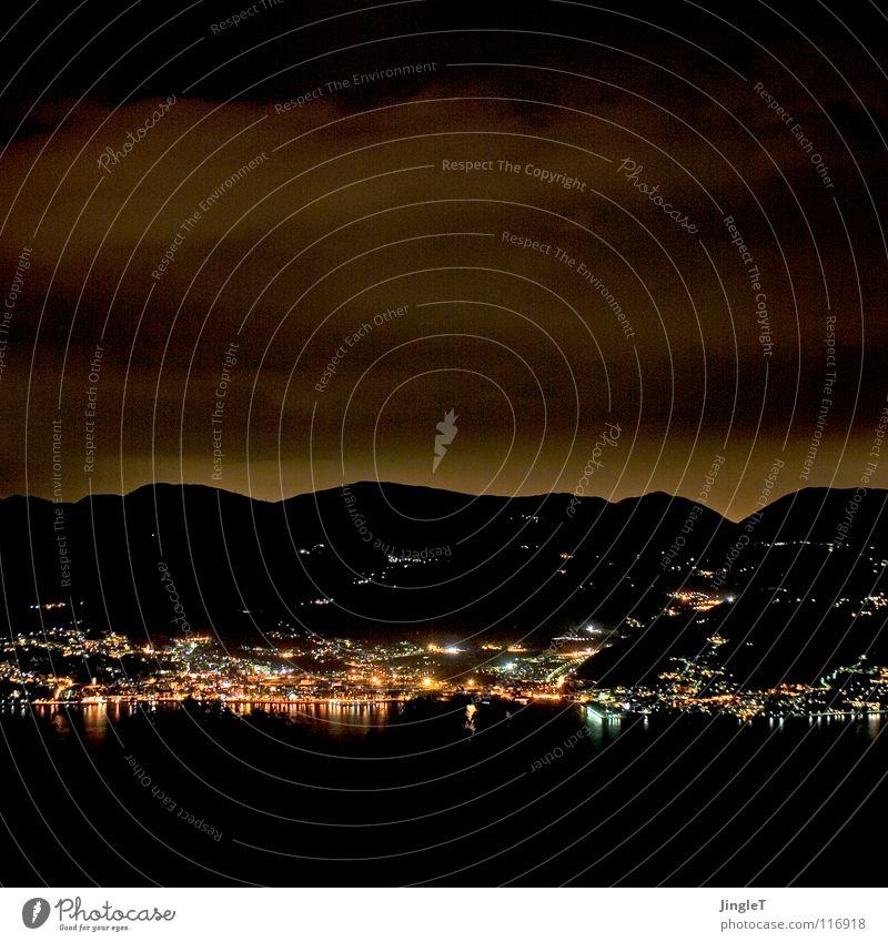N8gem8 Himmel Wolken dunkel Berge u. Gebirge See Küste Italien Nachthimmel Piemonte Promenade Schichtarbeit Mitternacht Nachtlicht Lago Maggiore Nachtwache