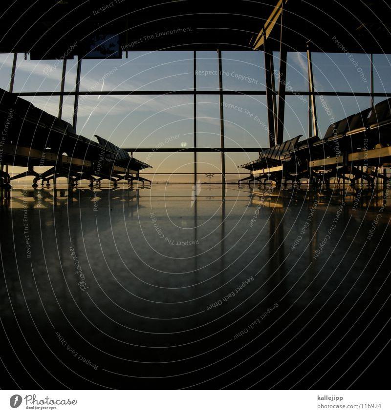 warten Ferien & Urlaub & Reisen Arbeit & Erwerbstätigkeit Fenster Stein Luft Flugzeug Design Verkehr modern Luftverkehr Güterverkehr & Logistik Bank Stuhl