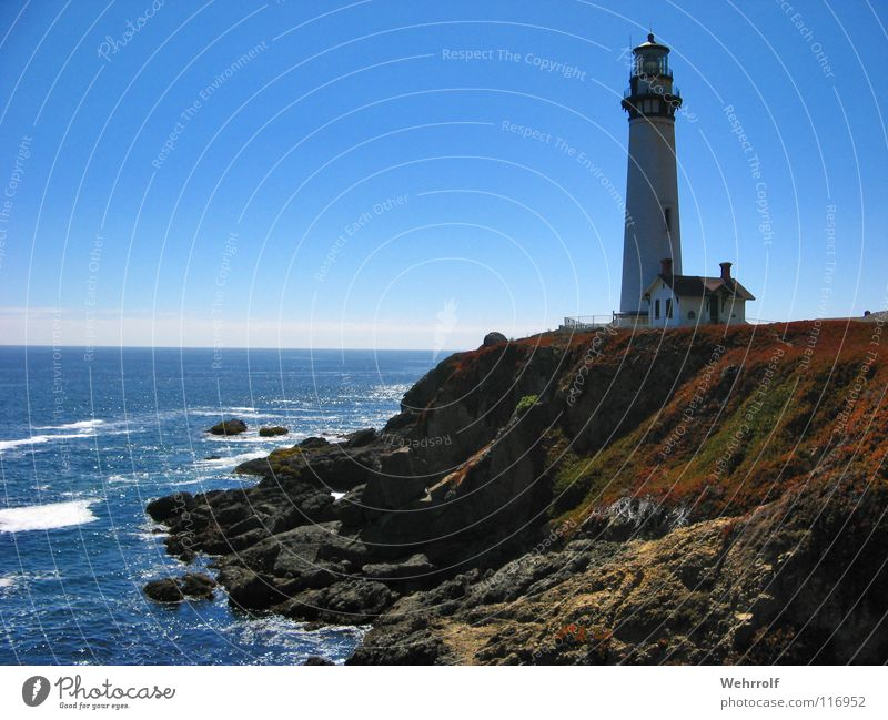 Leuchtturm Meer See Küste USA Kalifornien Pigeon Point