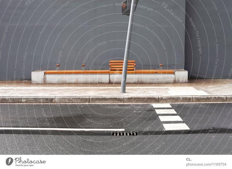 zob hannover Straße Wand Wege & Pfade Mauer grau braun trist Verkehr Hinweisschild Pause Bank Verkehrswege Langeweile stagnierend Straßenverkehr Verkehrsmittel