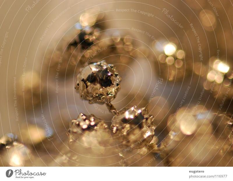 Goldeneye Weihnachten & Advent gold glänzend Stern (Symbol) Schmuck Kette silber Edelmetall Weihnachtsdekoration Platin