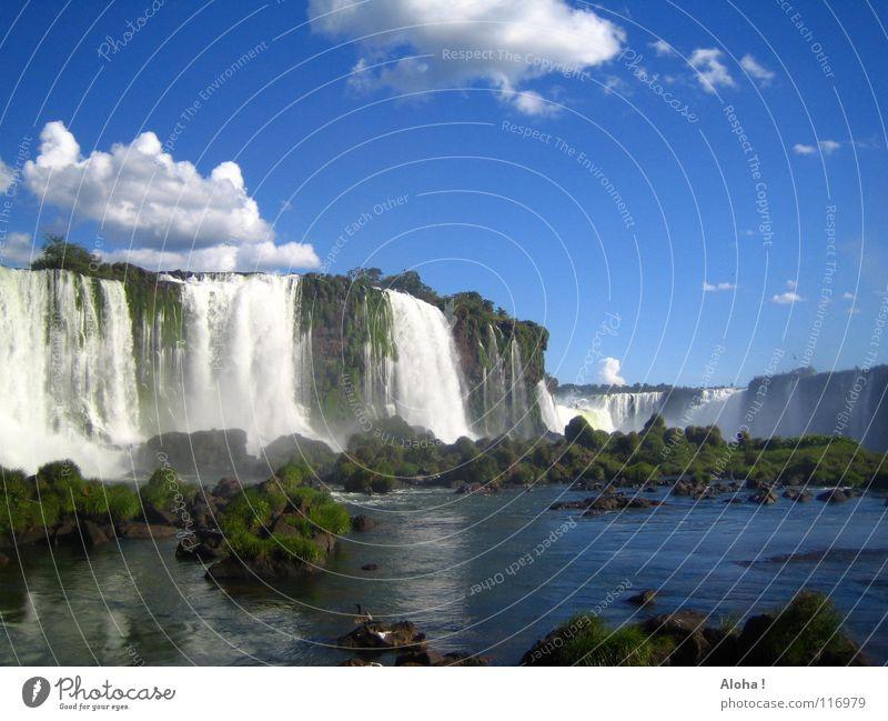 Brasilianischen Temperament II Strömung Berghang Brasilien Argentinien Kunst Wassermassen Pflanze Gewässer Tourismus Baum Wolken Horizont Wassertropfen Tourist
