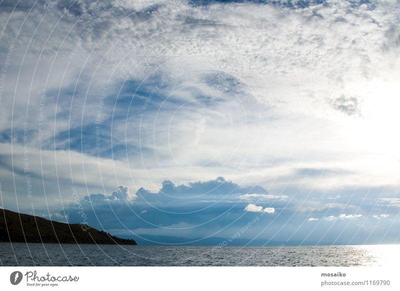 Titicaca See Himmel Natur Ferien & Urlaub & Reisen Sommer Wasser Landschaft Wolken Strand Hintergrundbild Freiheit hell Horizont Luft Tourismus Wind