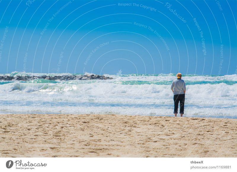 Sonne,Sand und Meer Himmel Ferien & Urlaub & Reisen Sommer Wasser Erholung Ferne Strand Leben Küste Freiheit Horizont Freizeit & Hobby Zufriedenheit