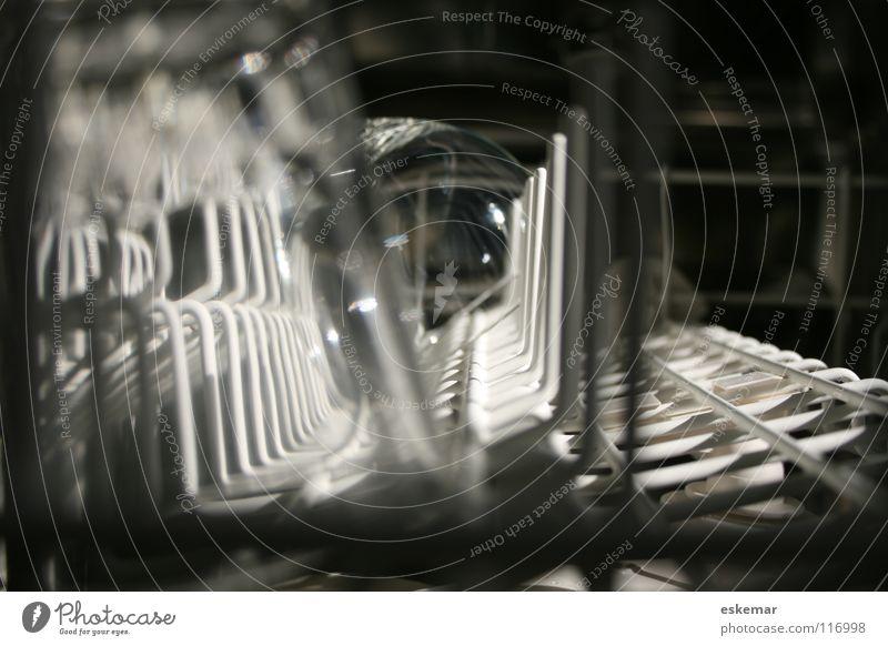 Spülmaschine weiß glänzend Glas Technik & Technologie Küche Sauberkeit Reinigen Statue Maschine Charakter Gerät fertig Haushalt elektrisch Geschirrspülen