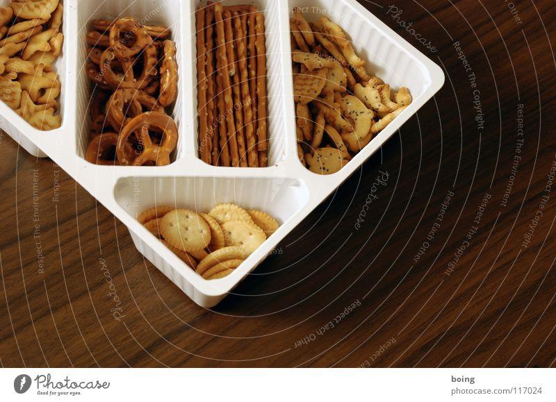 feste Nahrung F Backwaren Bildausschnitt Anschnitt salzig Packung Foodfotografie Salzstangen Salzgebäck
