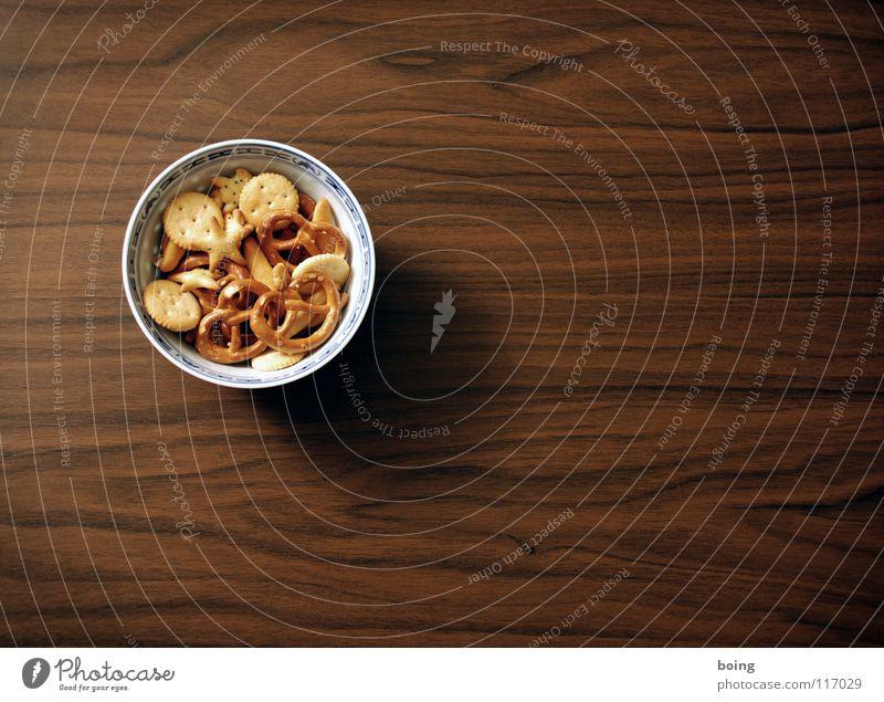 feste Nahrung G - G wie Äffchen satt Tisch Lebensmittel Schalen & Schüsseln Maserung Tischplatte Foodfotografie Knabbereien