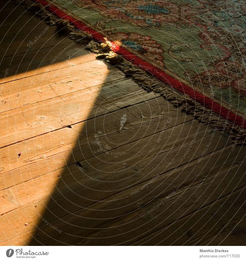 Dachboden Teppich teuer Parkett verfallen morsch antik Stoff Seide Macht Fluggerät Perserkatze Kitsch Wohnzimmer wohnlich Altertum Zauberer bezaubernd mystisch