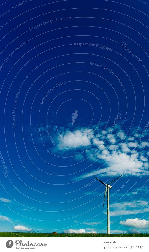 Windkraft Windkraftanlage Elektrizität Energie Energiewirtschaft umweltfreundlich Stromkreis Himmel Konstruktion Erneuerbare Energie ökologisch Umweltschutz