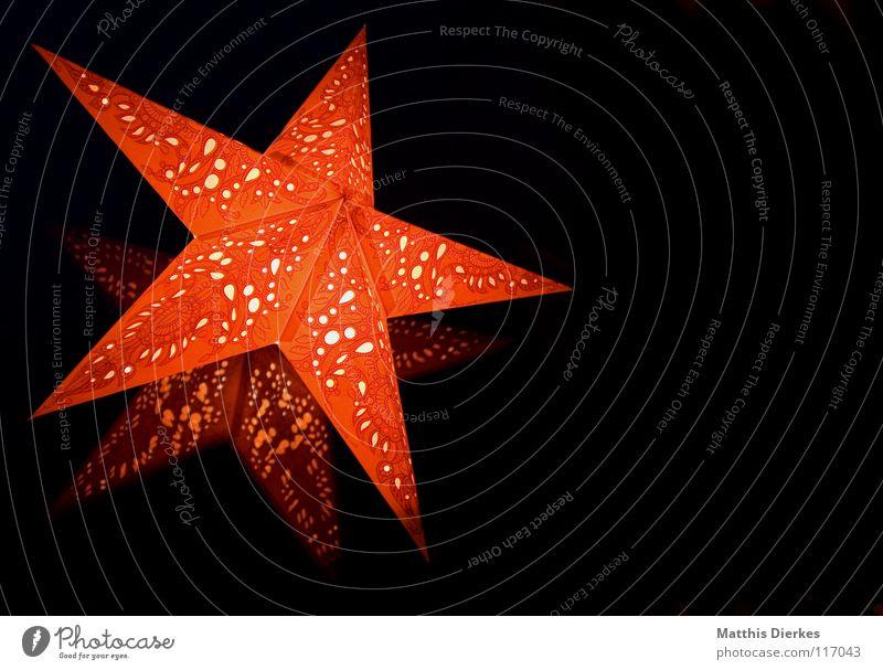 Stern Himmel Weihnachten & Advent schön rot Freude Winter Farbe Fenster Spielen Wärme Lampe elegant gold ästhetisch Stern (Symbol) Stoff