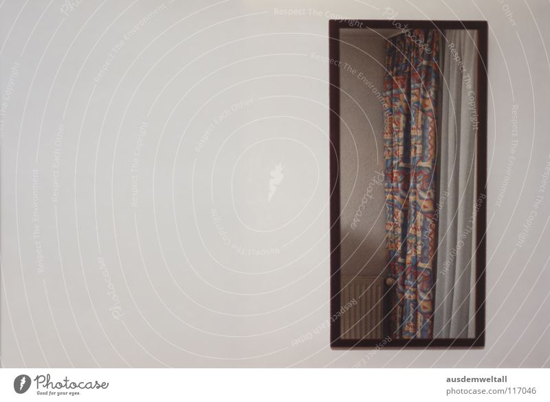 Blickwinkel III Lampe Wand Raum Perspektive Spiegel analog Scan