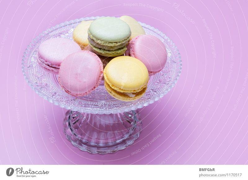 Kaffee und Kekse schön Freude Stil Glück Lebensmittel Lifestyle Stadt Essen rosa Fröhlichkeit Ernährung genießen süß kaufen violett Süßwaren gut