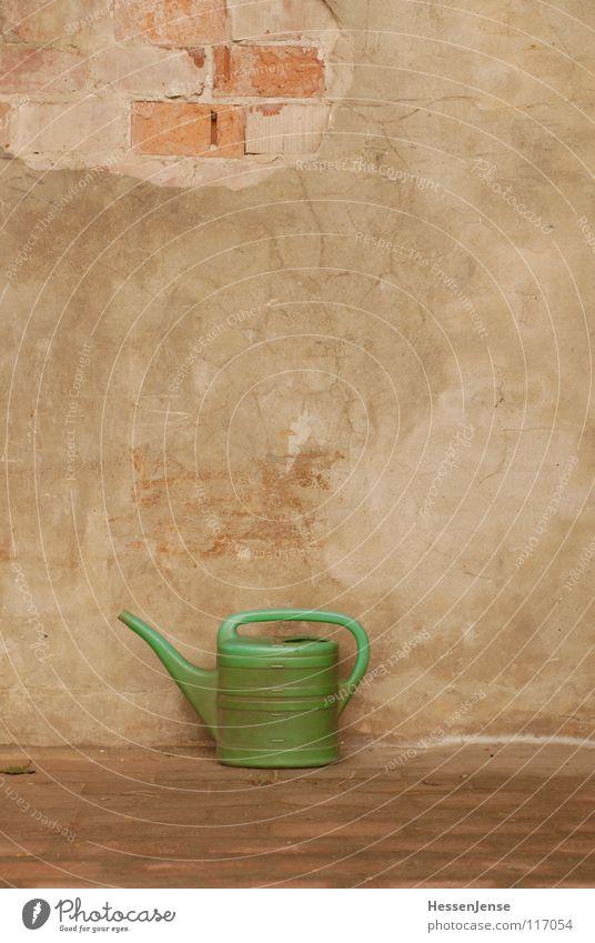 Objekt 1 grün Einsamkeit Wand Gefühle Stein Mauer kaputt Vergänglichkeit Handwerk historisch Putz