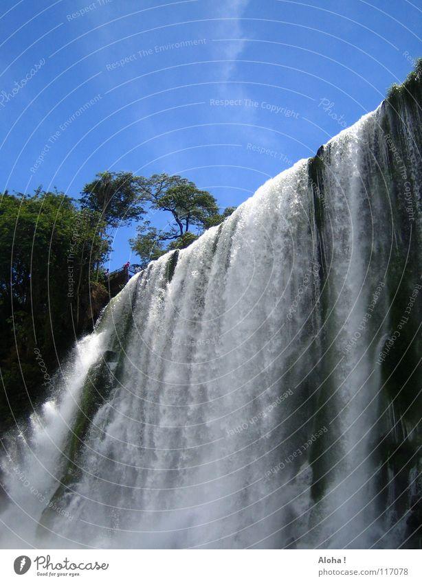 Zuerst ruhiges Wasser ... IV Natur Himmel weiß Baum grün blau Pflanze Sommer Ferien & Urlaub & Reisen Wolken Wärme Wellen Kunst Nebel Wassertropfen