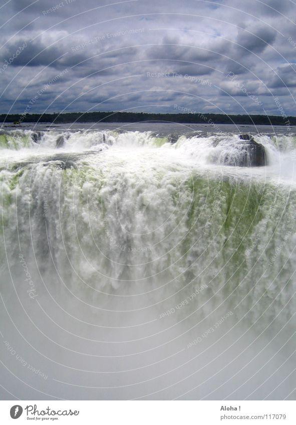 Danach wildes Wasser ... V Natur Wasser Himmel weiß Baum grün blau Pflanze Sommer Ferien & Urlaub & Reisen Wolken Tod grau Wärme Wellen Angst