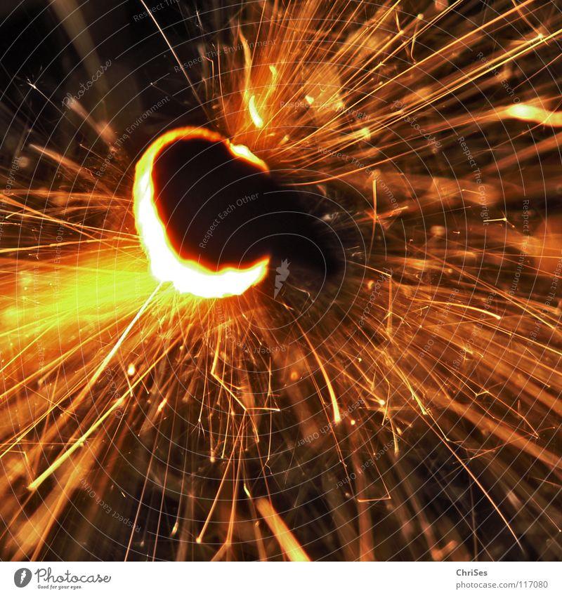 WunderKerze_02 Weihnachten & Advent weiß schwarz gelb dunkel hell Feste & Feiern glänzend Brand Geburtstag gold Feuer Stern (Symbol) Kerze Silvester u. Neujahr heiß