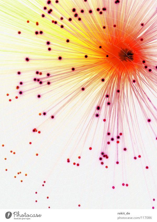 Ausbruch rot Freude Lampe dunkel Beleuchtung Brand Feuer Punkt Spitze Loch positiv Treffer urinieren Explosion Vulkan Konfetti