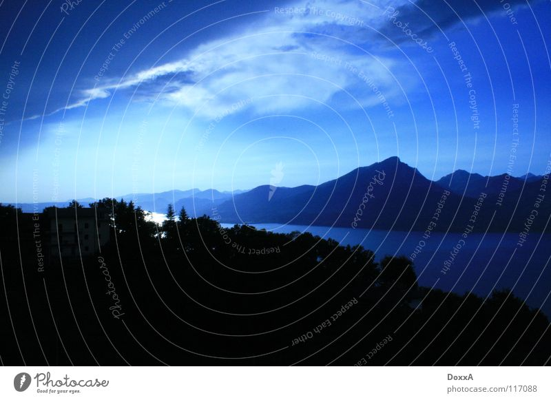 Gardasee Natur Wolken Berge u. Gebirge See Italien Blauer Himmel
