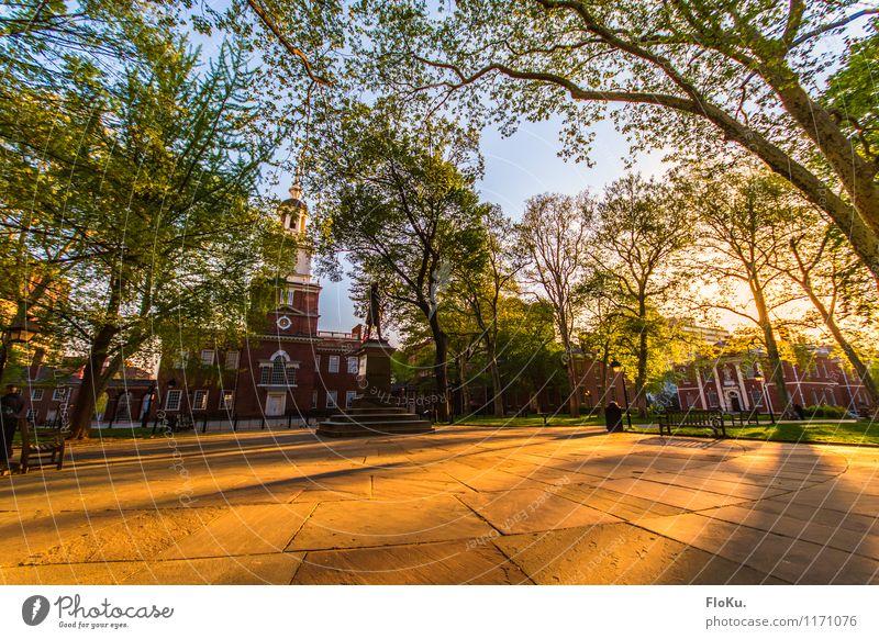 die Wiege der USA Ferien & Urlaub & Reisen Tourismus Städtereise Umwelt Natur Sonnenaufgang Sonnenuntergang Pflanze Baum Blatt Philadelphia Stadt Stadtzentrum