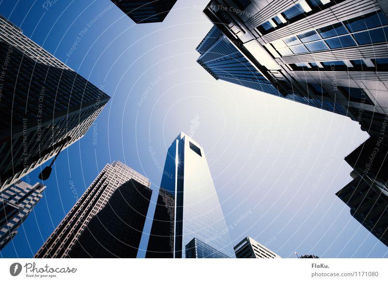 Philadelphia Himmel Stadt blau Sonne Haus Architektur Gebäude Stein Metall Fassade Glas Hochhaus Schönes Wetter Bauwerk USA Skyline
