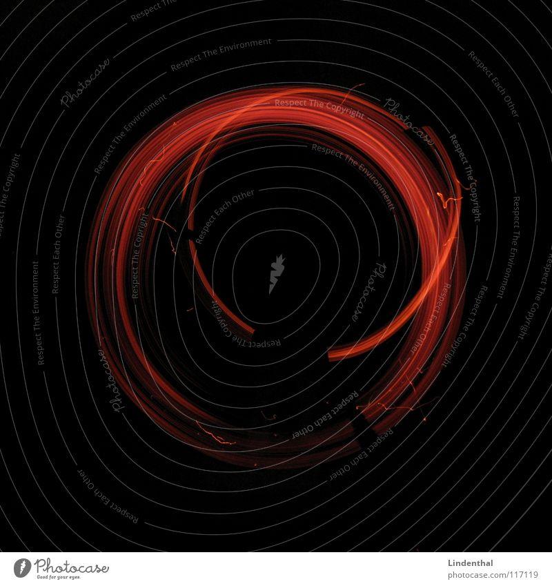 Ring of Fire Brand Physik heiß rot Feuer Flamme Wärme Feuerstelle orange feuerkreis Kreis feuerring