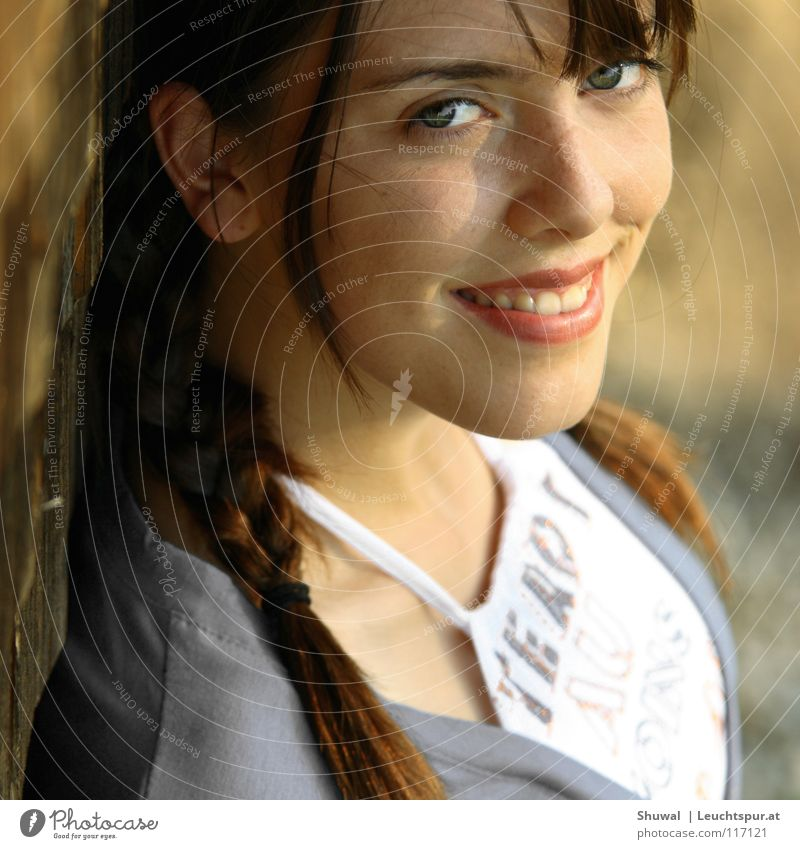 just a friendly portrait Frau Jugendliche schön ruhig Gesicht Auge lachen Lifestyle Haare & Frisuren Mode Kopf Zufriedenheit Kindheit ästhetisch Haut Mund