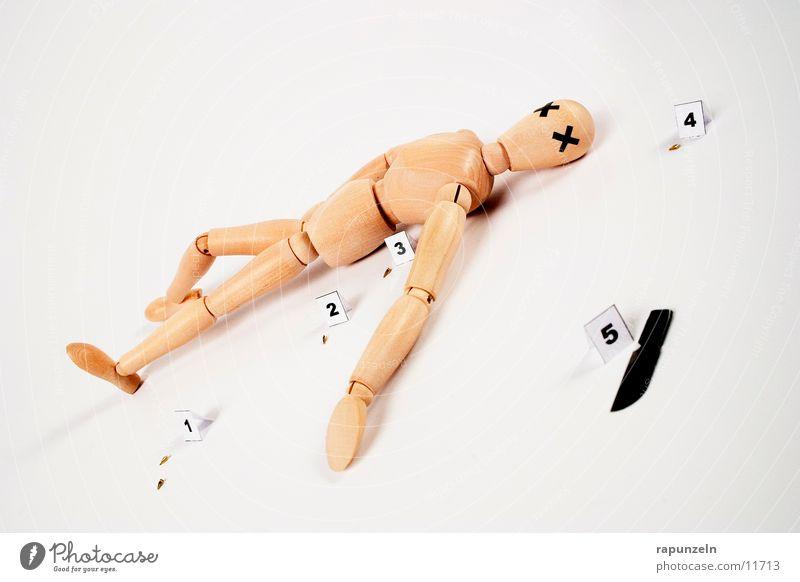 Getting Away With Murder (2) Mensch Holz Dinge Symbole & Metaphern Kugel Puppe Messer Leiche Waffe Mord Opfer Klinge Gliederpuppe Projektil Totschlag Tatwaffe