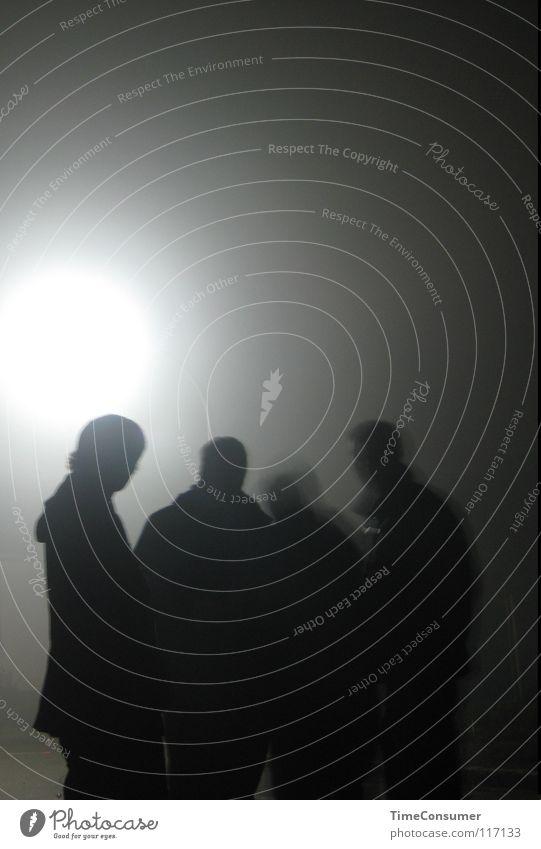 spotlight Menschengruppe Stern Laterne Scheinwerfer